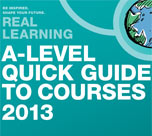 A-Level guide to courses 152*134